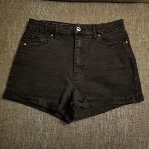 Forever 21 High Waist Rolled Hem Jean Shorts